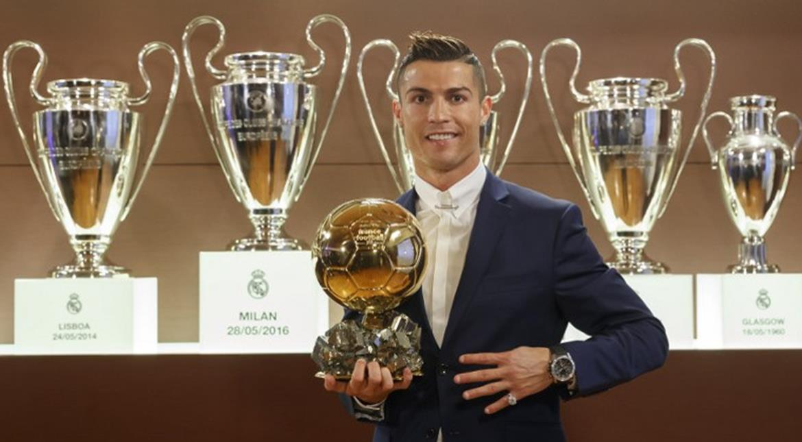 Cristiano Ronaldo wins Ballon d'Or for fourth time