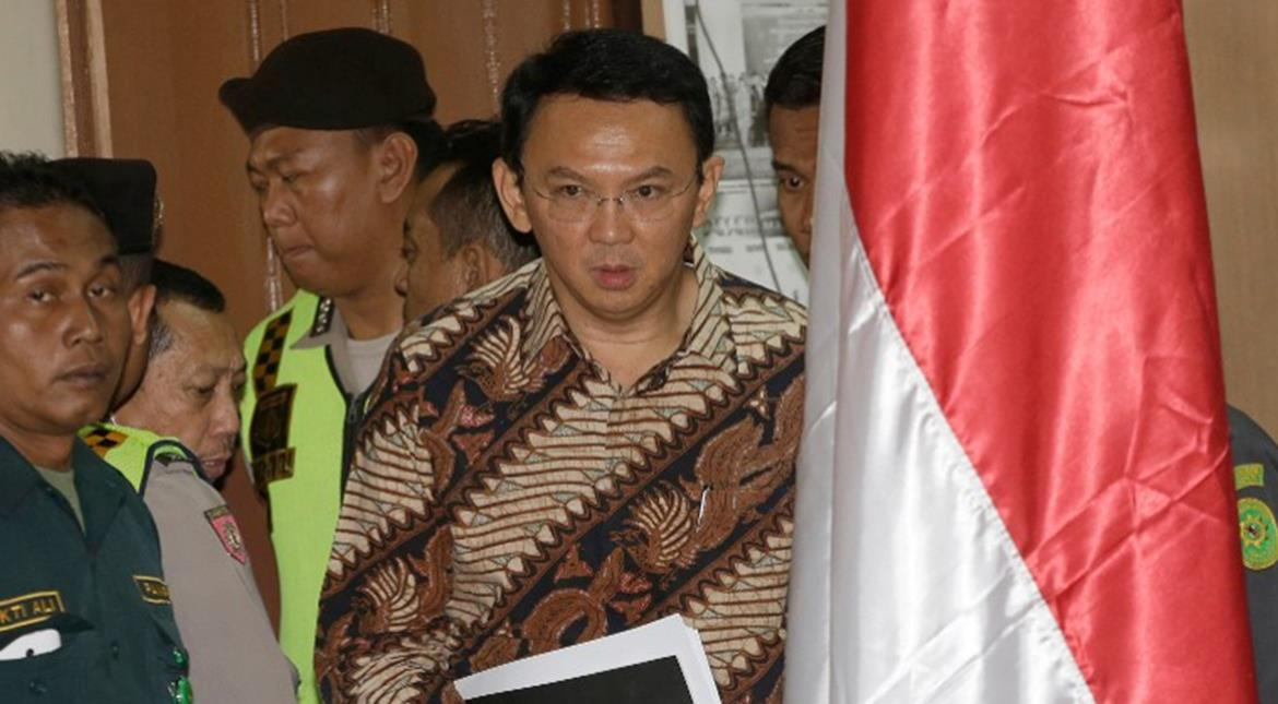 Jakarta's Christian governor stands trial for blasphemy