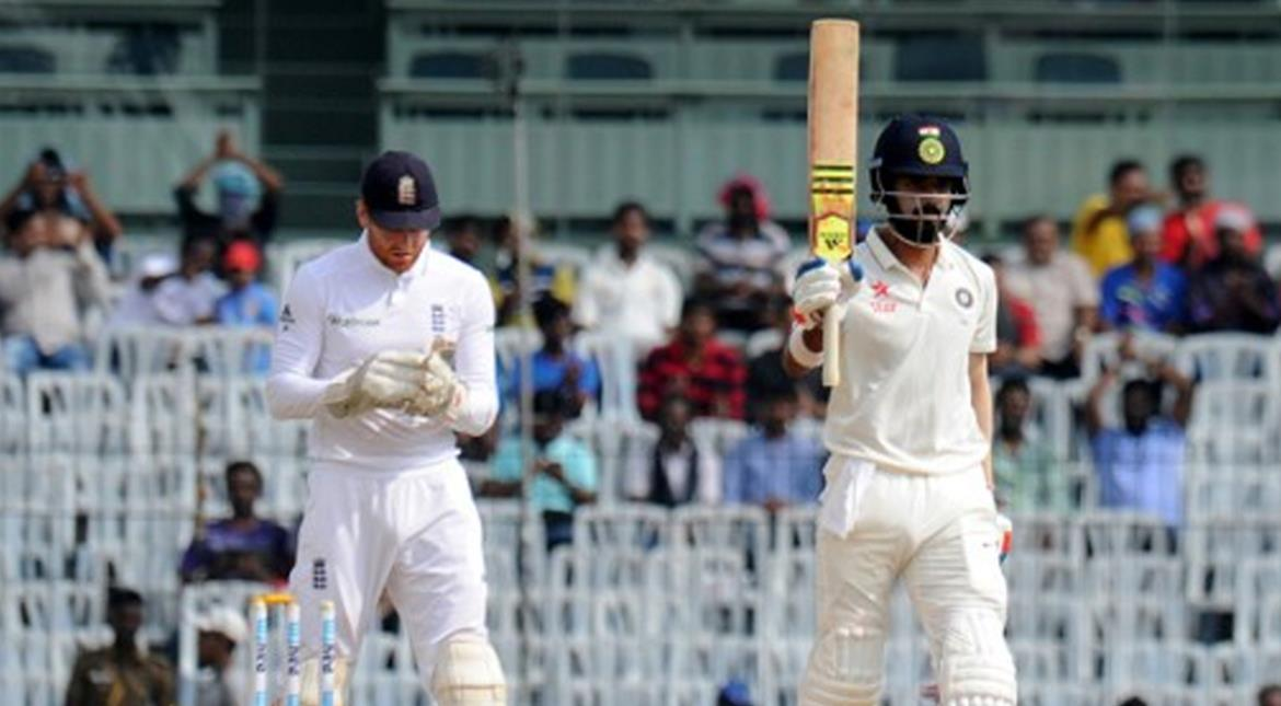 Rahul, Patel give India solid start in Chennai
