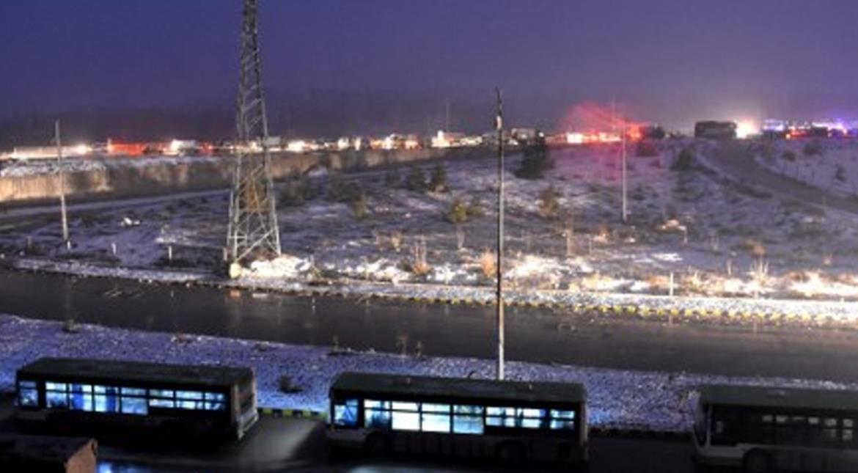 Aleppo evacuated in heavy snow