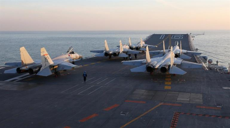 Taiwan says Chinese aircraft carrier passed south of island