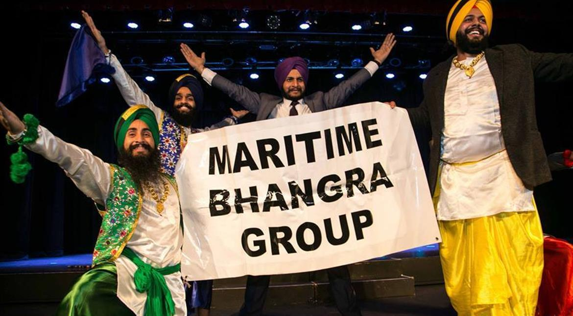 Indian Bhangra dancers meet Canadian winter, with excellent results