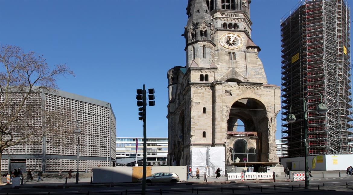 Berlin attack took place near Church bombed in WWII, preserved as a warning