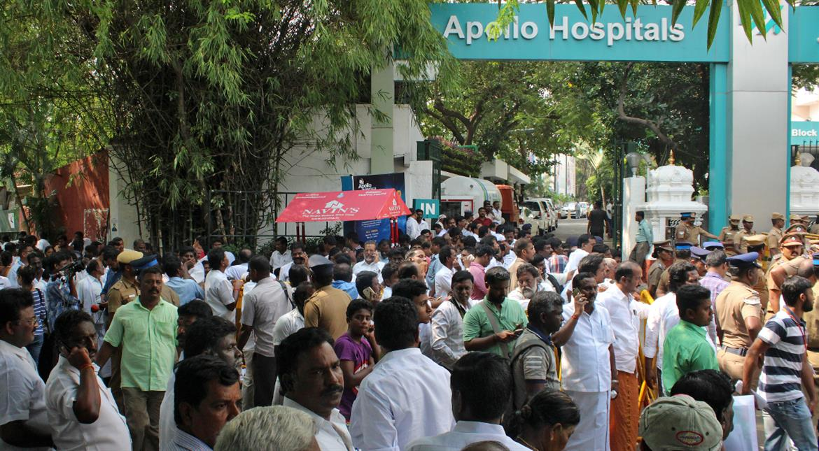 Mass grief in Tamil Nadu after Jayalalithaa's death