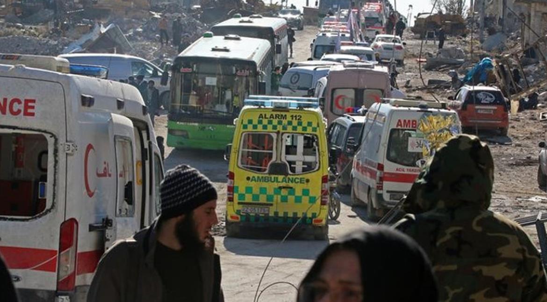 Aleppo evacuation halted as blasts heard