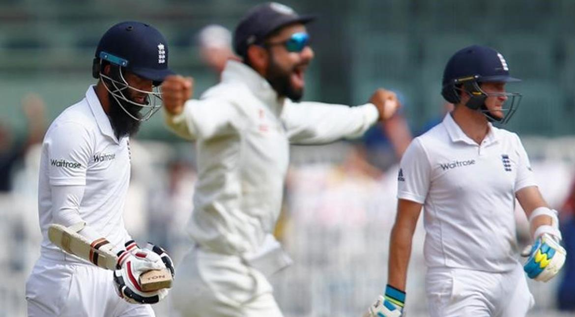 Cricket: England 352-7 after Moeen walks into short-pitch trap