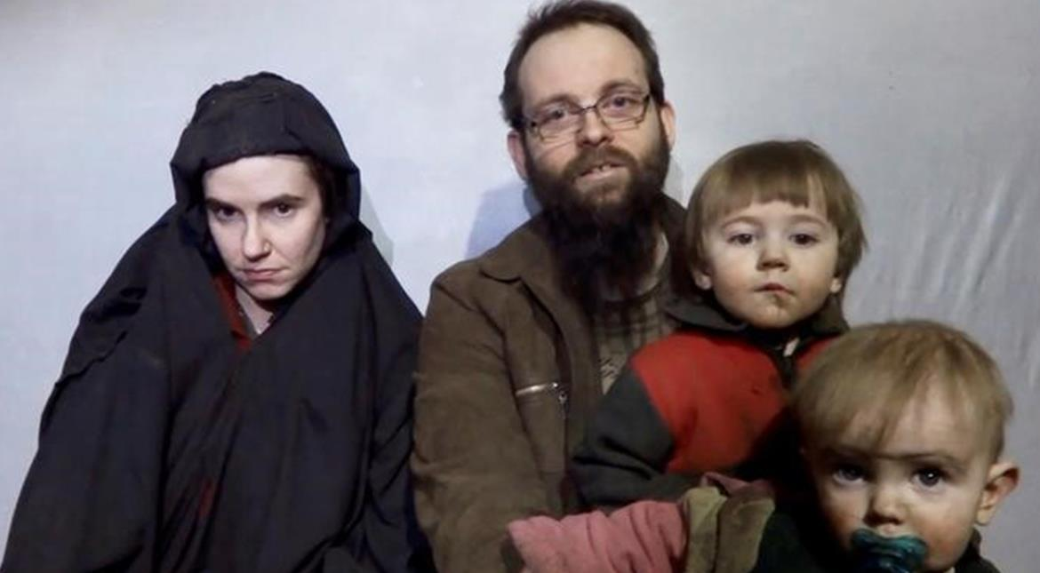 Alleged Taliban video shows sons born in captivity to kidnapped American-Canadian couple