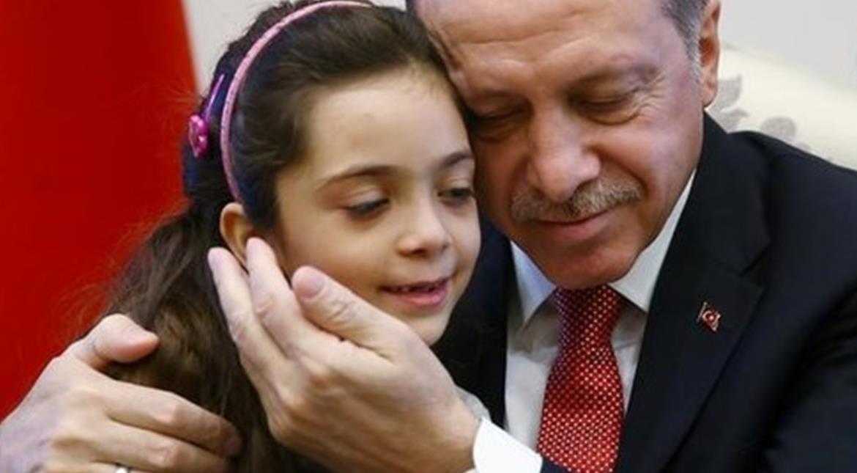 Seven-year-old Syrian blogger meets Turkey's Erdogan