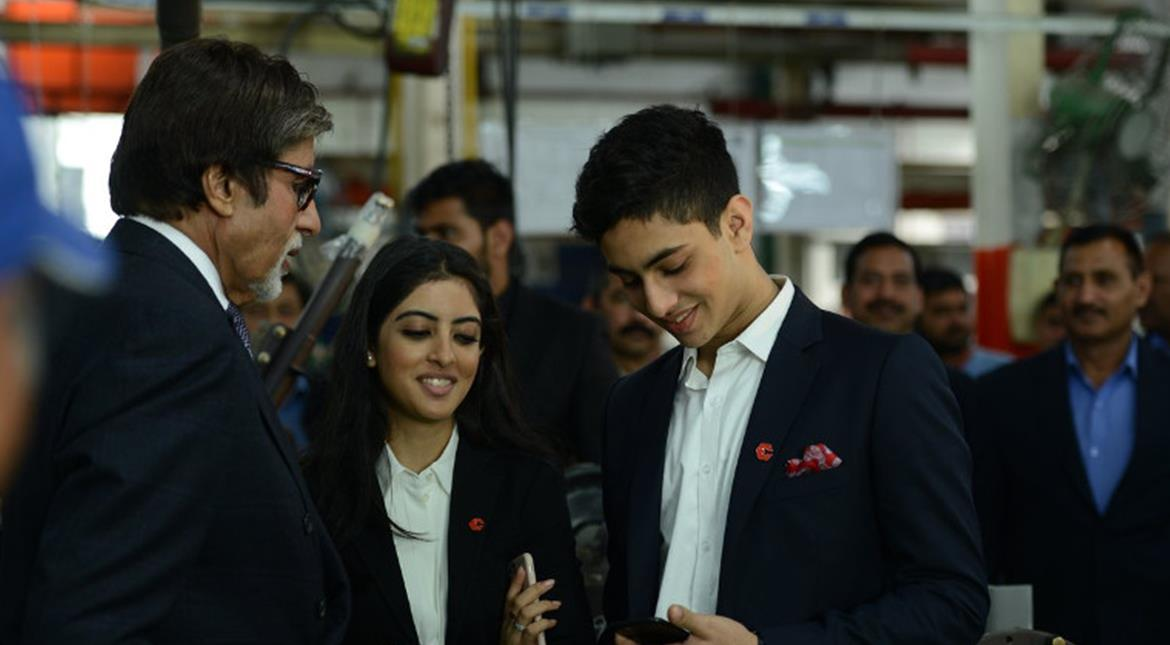 Amitabh Bachchan's Delhi visit: Filming in a factory, golden moments with grandchildren