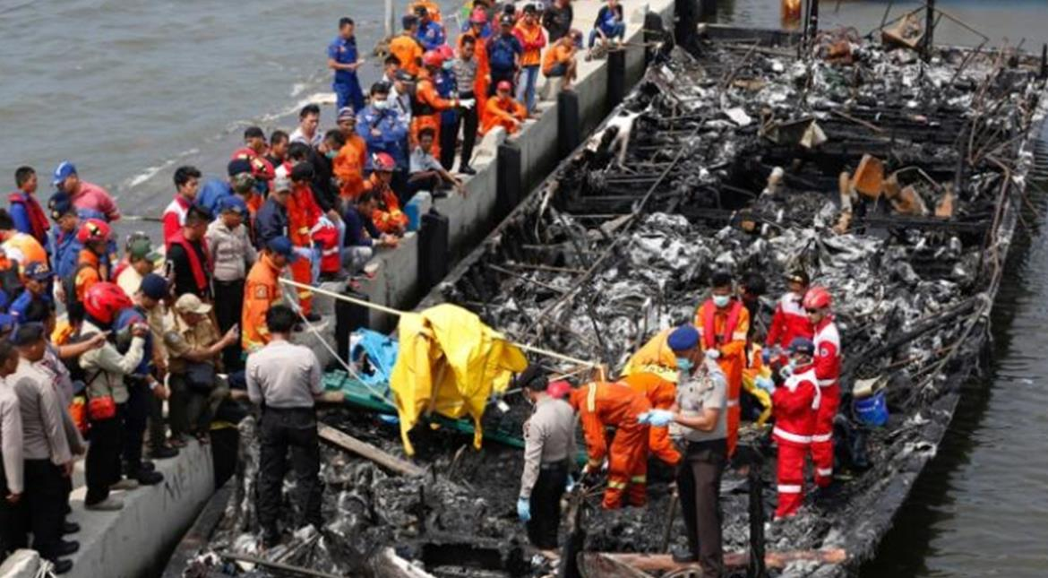 Indonesia: 23 dead, 17 missing as tourist boat catches fire near Jakarta
