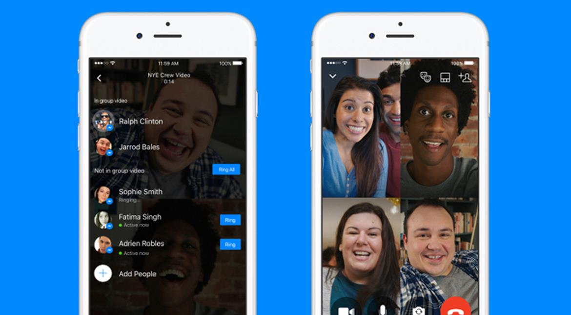 You can now video chat with up to 50 people on Facebook Messenger