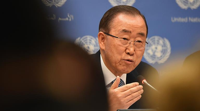 United Nations chief speaks to reports he'll run for South Korea leader