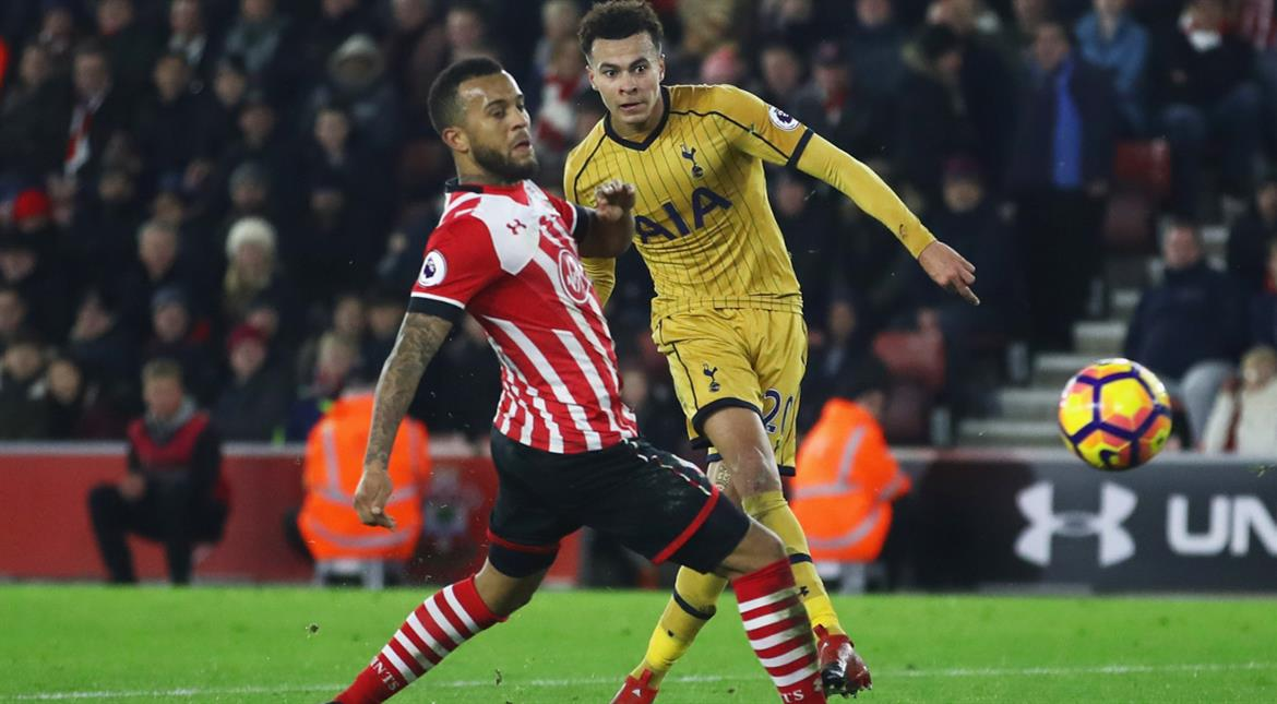 EPL: Alli double helps Spurs sink 10-man Southampton