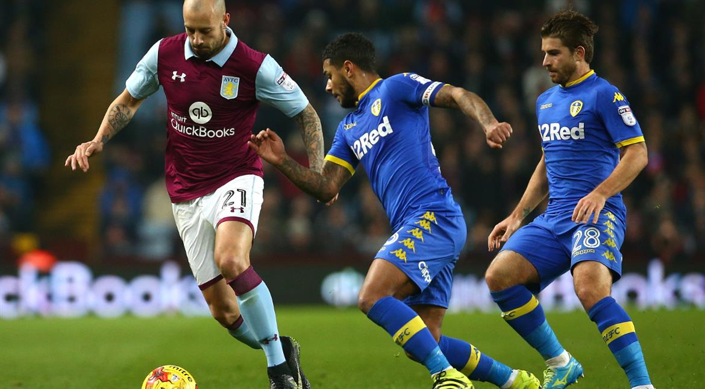 Football: Late Kodija penalty earns Aston Villa 1-1 draw against Leeds