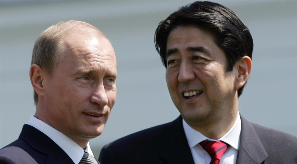 Soaking in hot spring, Putin & Abe could end World War II today