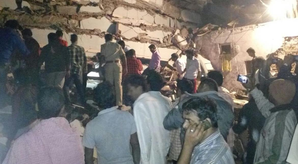 India: Seven-storey building under construction collapses in Hyderabad, 3 dead