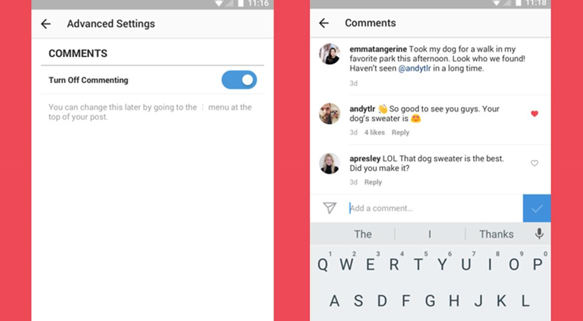 Instagram now gives users more control over comments