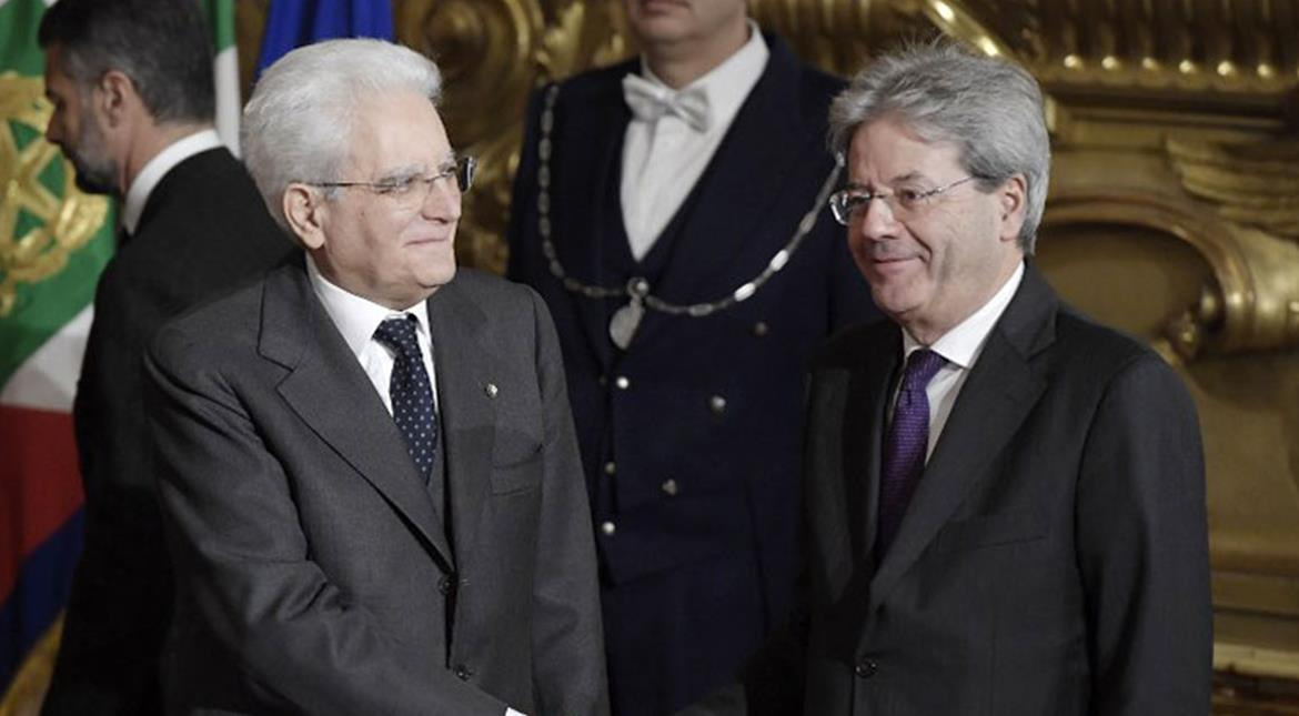 Italy PM Gentiloni and his new cabinet sworn in