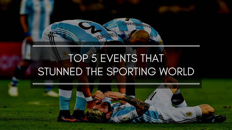 Top five events that stunned the sporting world in 2016