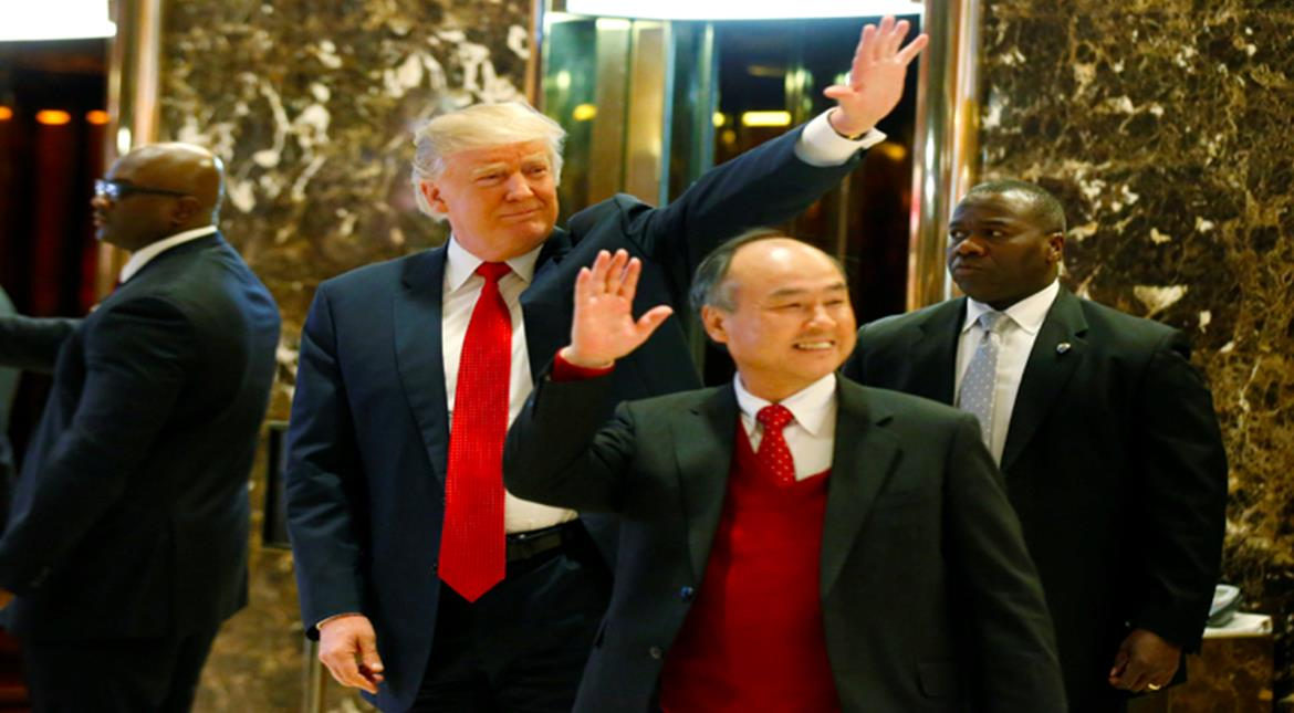 Trump trumpets $50bn investment deal with Japan's SoftBank ahead of victory rally