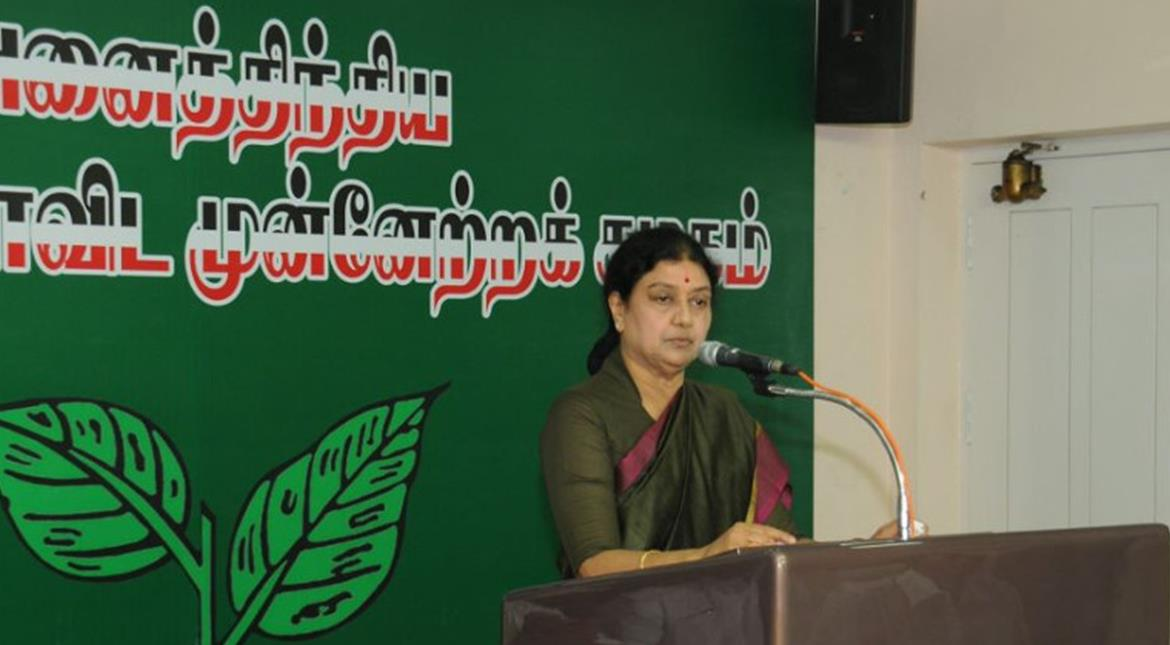 Sasikala takes over as chief of Tamil Nadu's ruling AIADMK party
