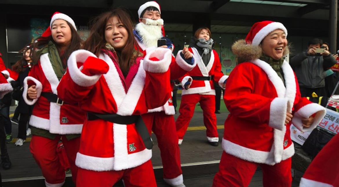 S. Korea: Protesters in Santa outfits push for president's ouster