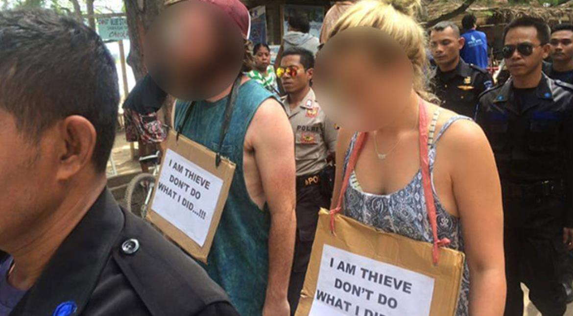 Tourists Paraded In 'Walk Of Shame' Over Bicycle Theft In Indonesia
